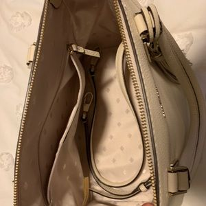 Kate Spade Cream Leather Satchel Purse